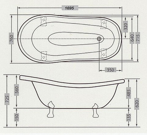 NEUE FREISTEHENDE BADEWANNE RETRO - Fabrikverkauf, super günstig ... | {Freistehende badewanne antik 47}