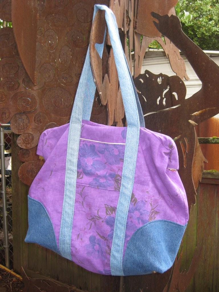 Piel Leather Carpet Bag With Pockets Piel Leather Carpet
