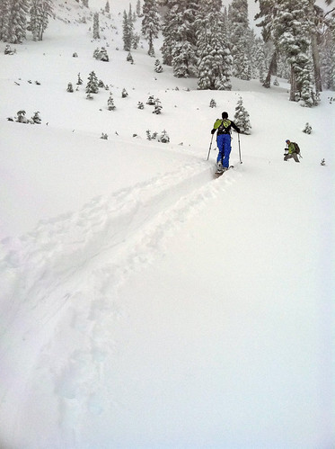 Skiing Oct. 6 2011 at Alpine Meadows