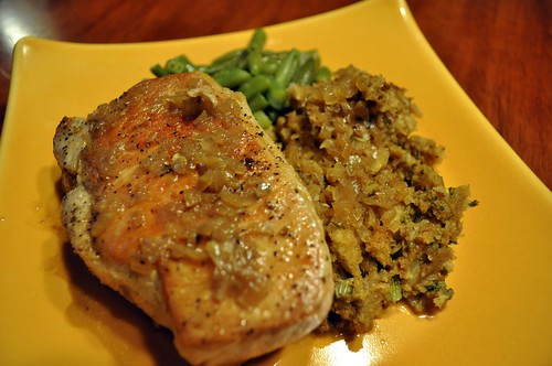 Pan-Seared Pork Chop with Cider Sauce