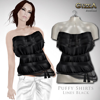 Puffy Shirts [Lines Black]  by Cherokeeh Asteria