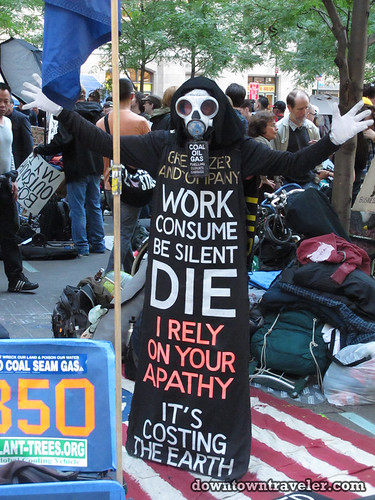 NYC Occupy Wall Street Rally Oct 8 2011 skeleton 2