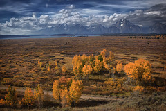 Teton's Willow Flats Fall's Past (Jerry T Patterson) Tags: bear ranch park flowers camping sunset summer camp horse mountains west cowboys sunrise canon daw