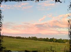 Sunset over the landscape (K. W. Sanders) Tags: sky sun clouds landscape pasture hdr