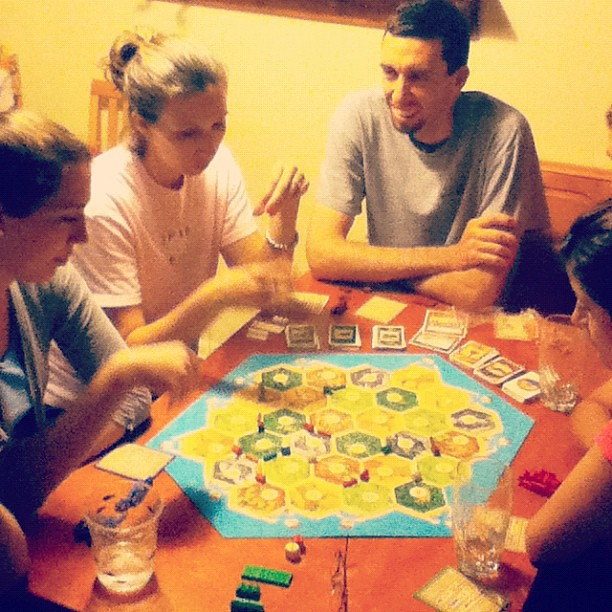 Late night Settlers matches...#weekendfun