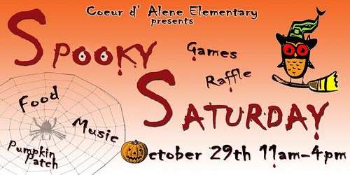Coeur d'Alene Booster club Halloween Flyer