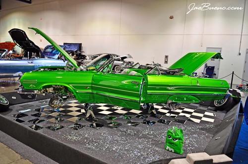 Lowrider Magazine Super Show Saturday Set Up Las Vegas - Lowrider car show las vegas