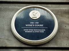 Photo of John Wyke black plaque