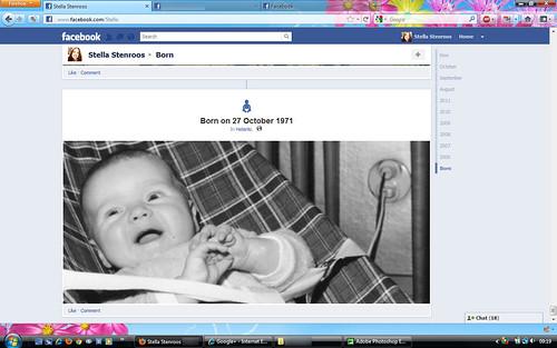 Facebook timeline screenshots