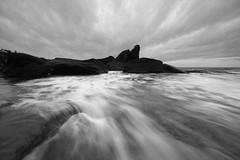 Stream (pominoz) Tags: sea storm clouds dawn rocks waves nsw centralcoast forrestersbeach