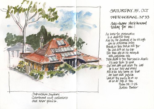 111015 Sketchcrawl 33_01 Colorbon roof extensions and solar panels
