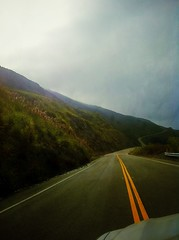 Image (DanLopez.) Tags: road sky mountains yellow big bigsur double hills sur wildflowers hwy1 iphone4