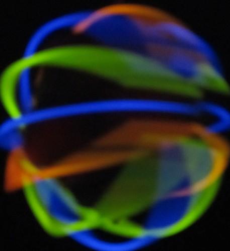 spinning glowstick ball