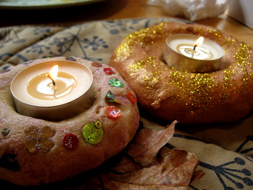 salt dough candle holder diwali craft