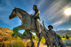 National Pony Express Monument (beachwalker2008) Tags: saltlakecity ponyexpress heritagepark thisistheplace