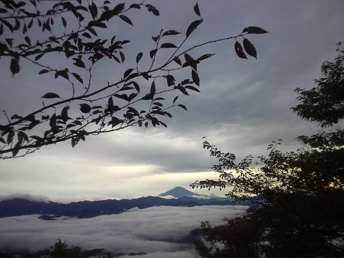 富士山見えた。右大腿四頭付け根に違和感 #hasetsune