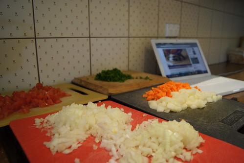 Cornish Pasties - Preparing Filling