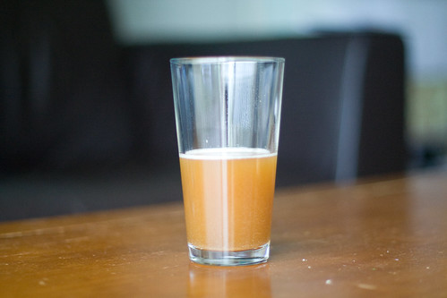 Wort, in a glass