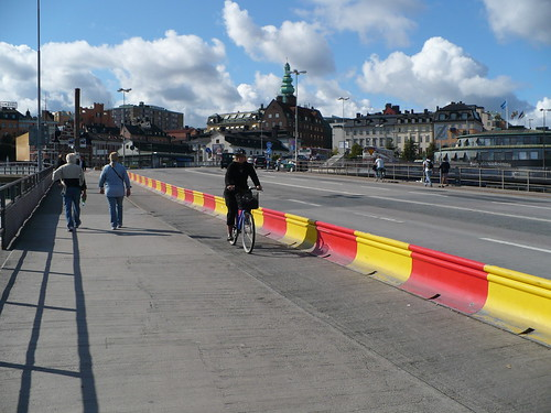 Slussen Bike Lane Barriers