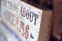 Follow That Train detail (Mae Chevrette) Tags: art collage train ink vintage painting print poster typography words lyrics mixedmedia ephemera canvas quotes type calligraphy countrymusic cursive handlettering inspirationalquote handtype maechevrette