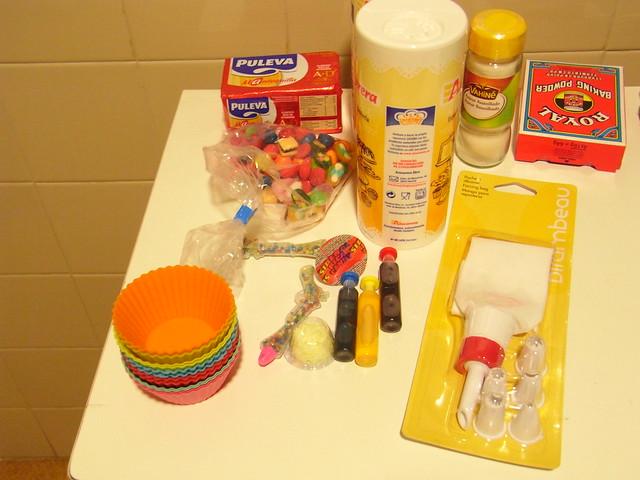 Ingredientes para cupcakes