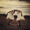 a chance encounter (brookeshaden) Tags: sky dark twins alien surreal shuffle grotesque curtsy fineartphotography brookeshaden texturebylesbrumes