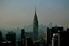 today was a hazy day in manhattan (Daniela Klara R. (gone)) Tags: newyork skyscraper manhattan empirestate chryslerbuilding wolkenkratzer viewfrommyoffice