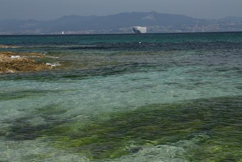 Vista de Vigo desde las Islas Cíes