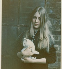 profile (unexpectedtales) Tags: old white black strange cat vintage wonderful hair found weird photo kitten long shot antique snapshot profile surreal snap photograph vernacular 1960s unusual enigmatic peculiar unexpectedtales vernaculat