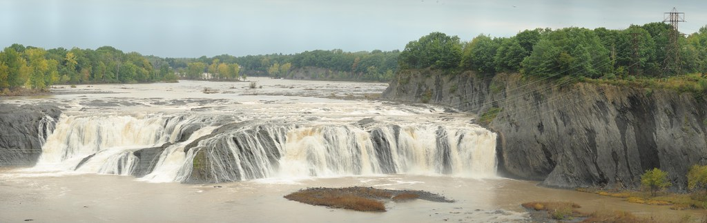 Cohoes Falls with power line, Cohoes, N.Y.