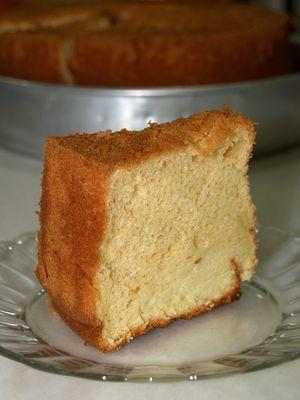 Slice of chiffon cake