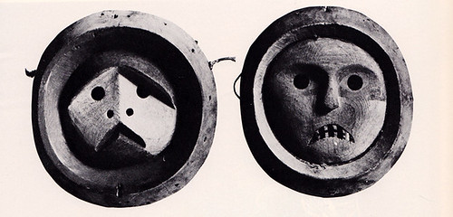 Two small Eskimo masks