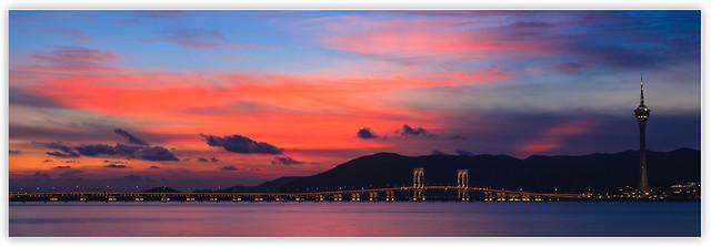 岸上的夕陽