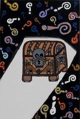 Pandora's Box (Tyger Vinum) Tags: abstract history colors greek skull acrylic treasure roman box chest paintings marks canvas pirate question dreams imagination pandora mythology myth pandoras tygervinum tigervenom