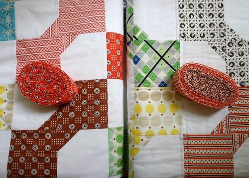 Bowtie quilt - bindings
