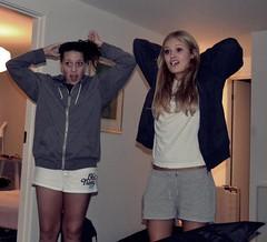 Sleepover (Rebelle-Fleur) Tags: sexy apple mac legs blueeyes teens blonde teenager heels abercrombie louisvuitton
