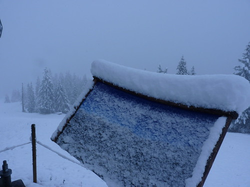 Neuschnee im September oberhalb von Garmisch-Partenkirchen