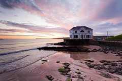 Arcadia dawn (Ian Humes) Tags: sea beach sunrise geotagged dawn sand rocks waves coastal northernireland arcadia portrush countyantrim cccl