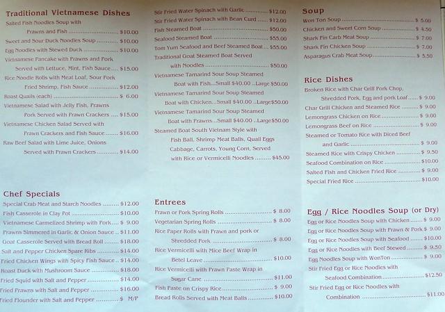 Cong Tu Bac Lieu menu 2