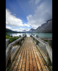 The Bridge (T.P Photographie) Tags: bridge lake mountains clouds rockies nikon jasper rocky lac sigma alberta bow pont banff nuages 1020 hdr rocheuses canadienne d7000