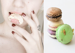 173/365 Mmm macarons (Nanihta (Sol Vázquez)) Tags: españa food art sol photoshop self photography spain hands sweet lips ring eat nails labios freckles comer boca yummi dulces selfie fotografía vazquez uñas macarons pistacho foodphotography vázquez nanah softskins nanihta doubleniceshot