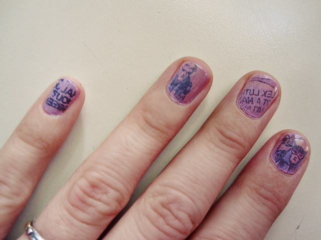 Newspaper Comic Nails Comic Book Nail Polish