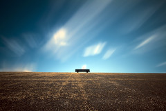 Sit down and relax II (Kees Smans) Tags: longexposure sky clouds bench landscape movement daytimelongexposure niksoftware bwnd110 bwnd106 wwwkeessmanscom 2011keessmans