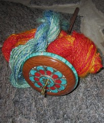spindle and yarn