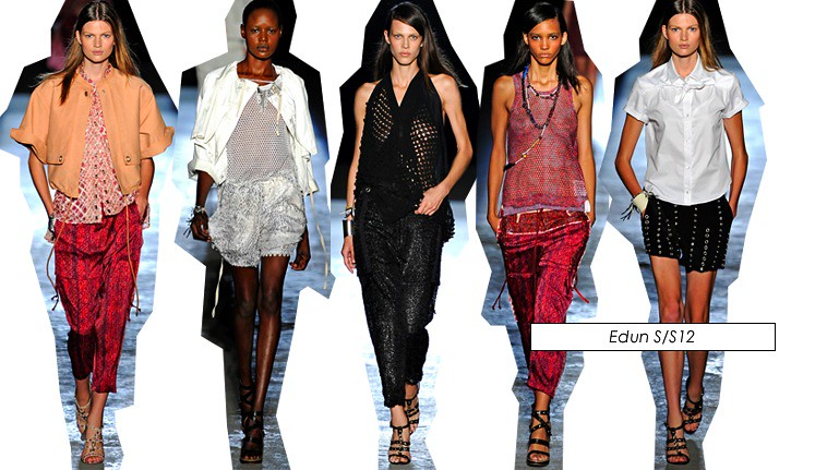 edun new york fashion week ss12 2012 collection