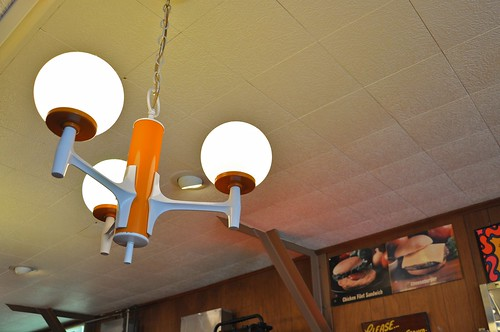 Vintage Ceiling Lights Above Counter