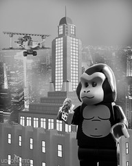King Kong LEGO (udronotto) Tags: italy cinema newyork film canon movie lego empire kingkong faywray 1933 abigfave udronotto marcopece