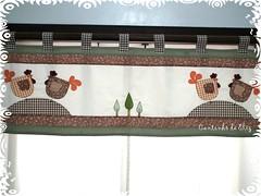 Cortina com band (Cantinho da Eliz) Tags: cortina galinha patchwork kitcozinha capaparagalodeagua patchcolgem