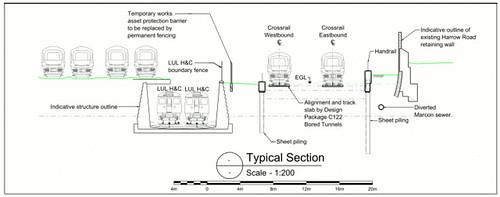 Side elevation - planning diagram