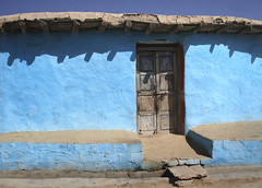 Our house .. (areyarey) Tags: door wood travel blue roof india house color colour detail home wall architecture rural creativity design wooden construction ancient asia paint village mud native earth geometry turquoise indian traditional north culture lifestyle style villages imagination geometrical organic custom residence ethnic residential generation rajasthan rajastan incredibleindia brahminblue areyarey villageswoodwooden